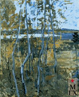 В.В. Почиталов. Тихая река. 1967. Х.К.М. 70х50.