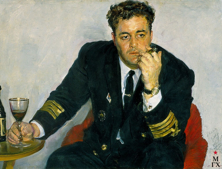 Радоман И. В. Портрет капитана дальнего плавания  Е. Н. Кратинова. 1967. Х.М. 80х100.