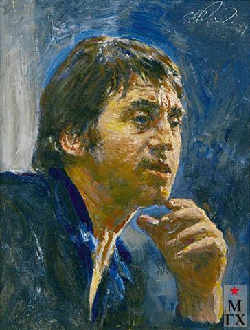 Радоман И. В. Высоцкий. 1986, Х.М. 40х50.