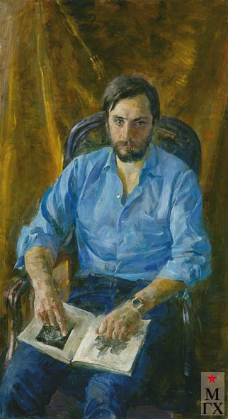 Радоман И. В. Скульптор Салават Щербаков. 1981. Х.М. 120х65.
