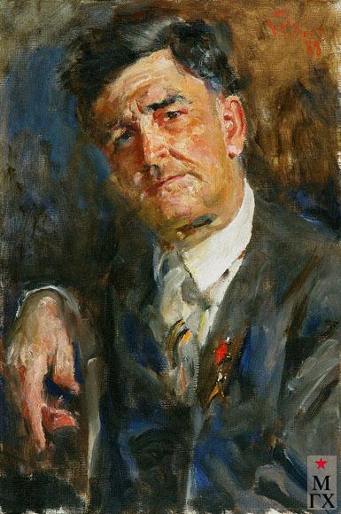 Радоман И. В. Герой Советского Союза, генерал авиации С. М. Крамаренко. 1988. Х.М. 70х50.