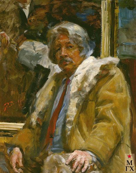 Радоман И. В. Автопортрет. 1988. Х.М. 100х78.
