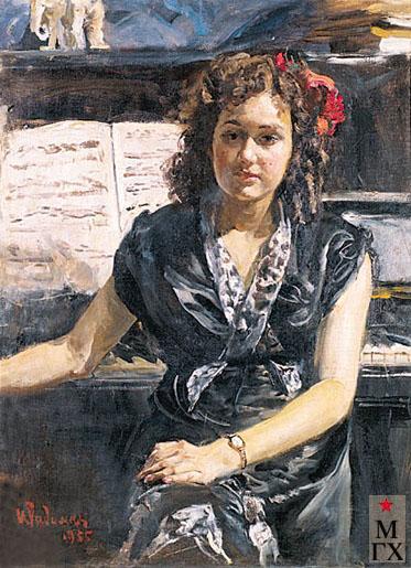 Радоман И. В. Пианистка. 1955. Х.М. 99х74.