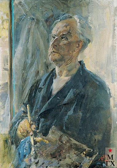 Радоман И. В. Портрет художника Е. В. Ильина. 1972. Х.М. 81х61.
