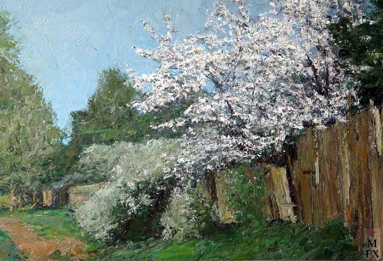 И.П.Рубинский. Яблони цветут