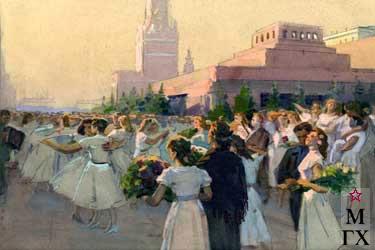 И.П.Рубинский. Бал на Красной площади (эскиз)