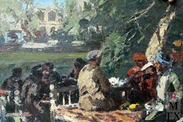 И.П.Рубинский. В чайхане