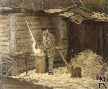 И.П.Рубинский. Старый плотник