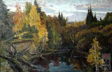 И.П.Рубинский. Осень в тайге
