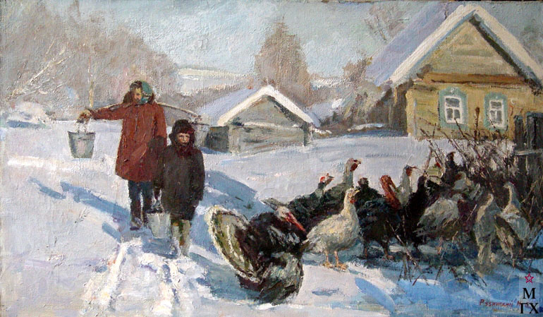 И.П.Рубинский. Зима в деревне