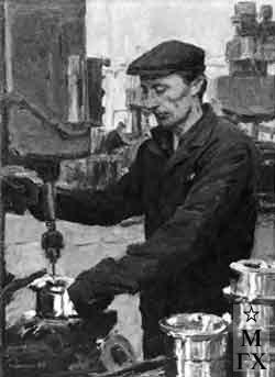 И.П.Рубинский. Портрет рабочего