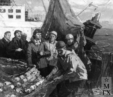 И.П.Рубинский. Групповой портрет экипажа траулера