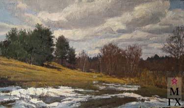 Весенний пейзаж х м