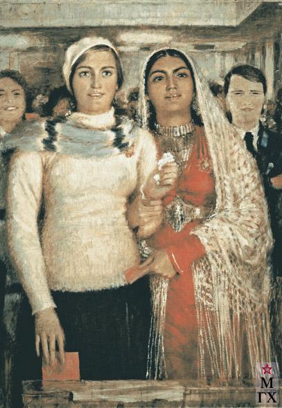 А. Н. Самохвалов. Делегатки. 1939. Х.М.
