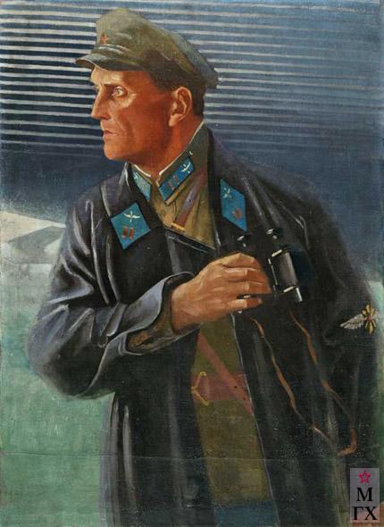 А. Н. Самохвалов. Портрет летчика. 1933. Х.М. 89х64