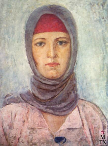 А. Н. Самохвалов. Молодая работница. 1928. Х.М. 65х50.5.