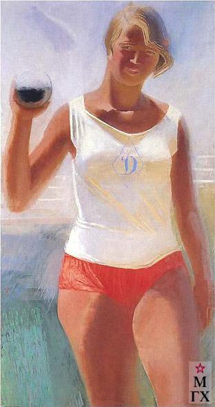 А. Н. Самохвалов . Девушка с ядром. 1933