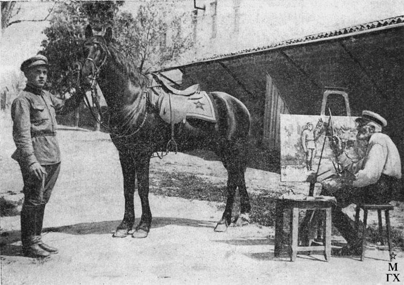 Н.С. Самокиш за работой. 1936 г.