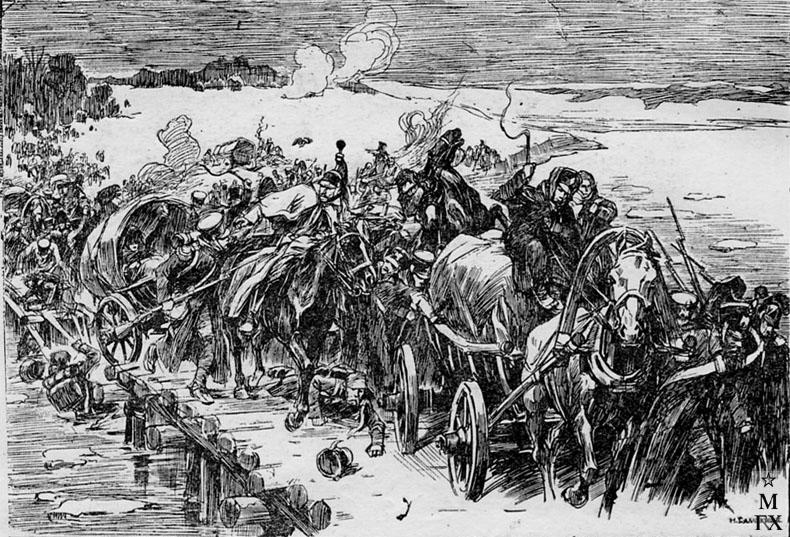 Н. С. Самокиш. Березина. Бегство французов из России в 1812 г. 1912.