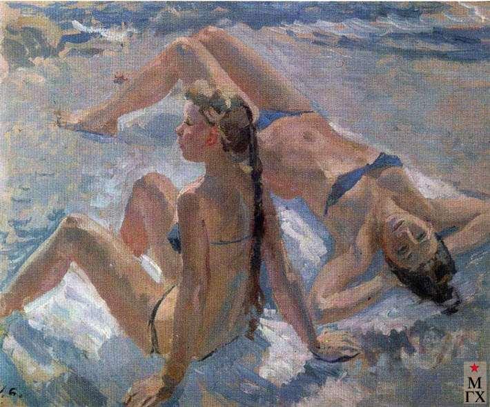 Пляж. 1968.