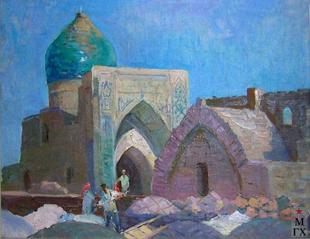 Шполянский Г.П. Мечеть Кальян. К.М. 35х49.5