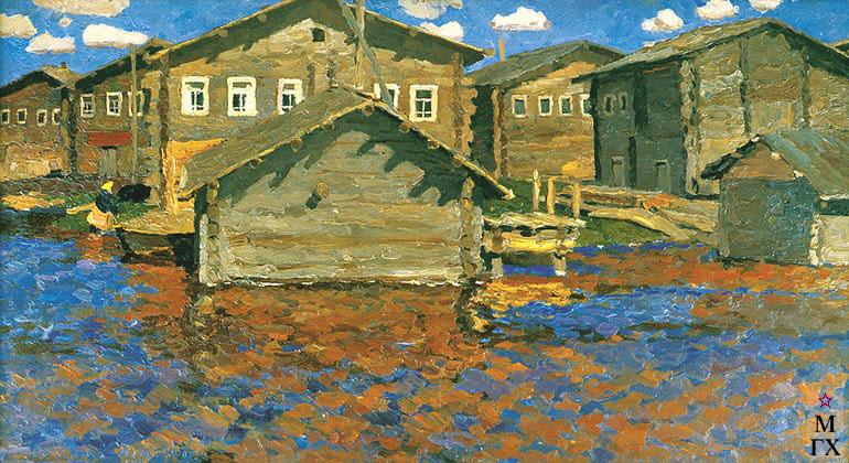 В. Ф. Стожаров. Муфтюга. Большая вода. 1966.
