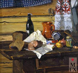 В. Ф. Стожаров. Натюрморт с горчицей. 1961. Х.М.