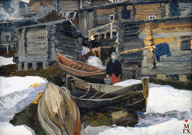В. Ф. Стожаров. Бани.  1964. К.М.