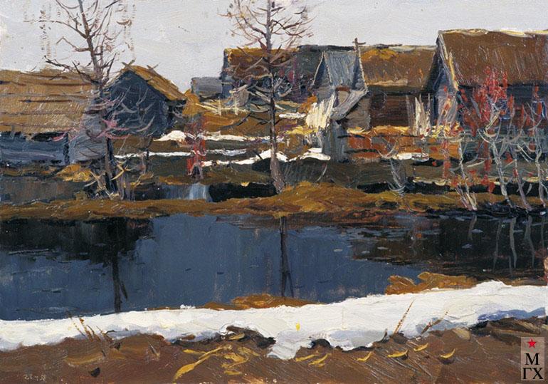 В. Ф. Стожаров. Талая вода. 1958. К.М.