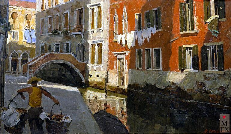 В. Ф. Стожаров. Утро в Венеции. 1959. Фанера.М.
