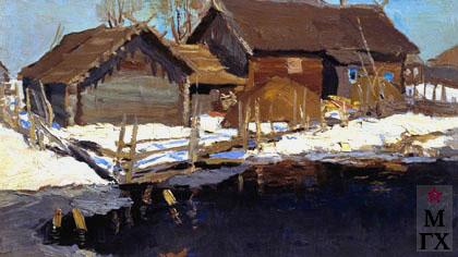 В. Ф. Стожаров. Большая вода. 1958. К.М.