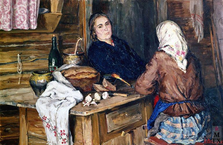 В. Ф. Стожаров. Разговор. 1955. Х.М.