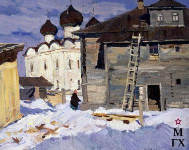 В. Ф. Стожаров. Каргополь. Церковь Воскресения. 1963. К.М.