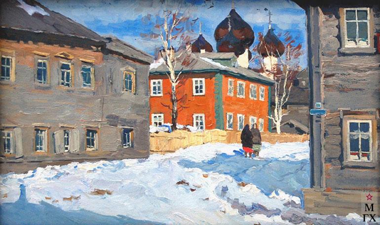 В. Ф. Стожаров. Каргопольские дома. 1963. К.М.
