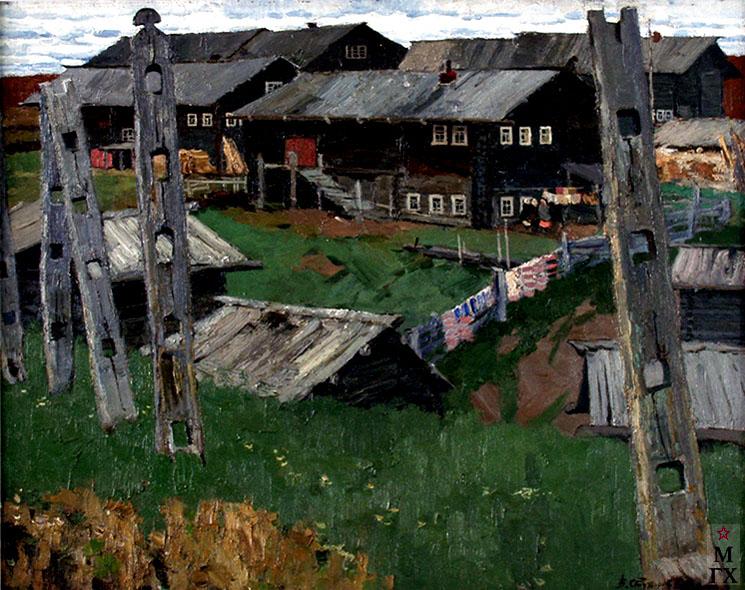 В. Ф. Стожаров. Село Шотова гора. 1963. Х.М.