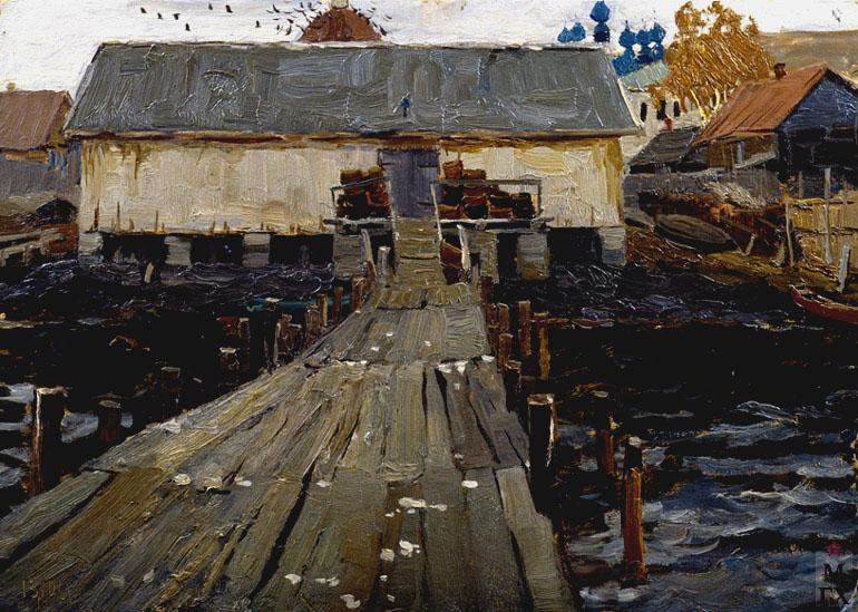 В. Ф. Стожаров. Причал. Галич. 1961. К.М.