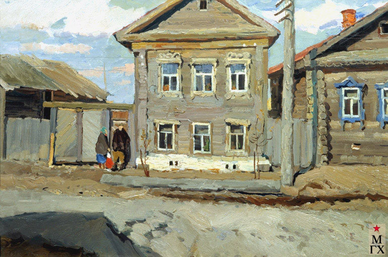 В. Ф. Стожаров. Дома Галича. 1961. К.М. Приморская краевая картинная галерея, Владивосток.