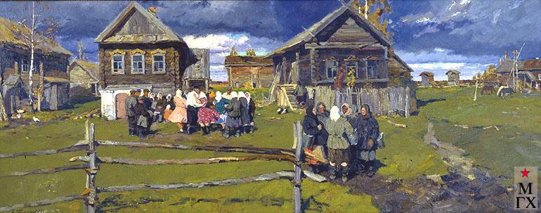 В. Ф. Стожаров. Село Андрейково. Покров. 1958. Х.М. ГТГ.