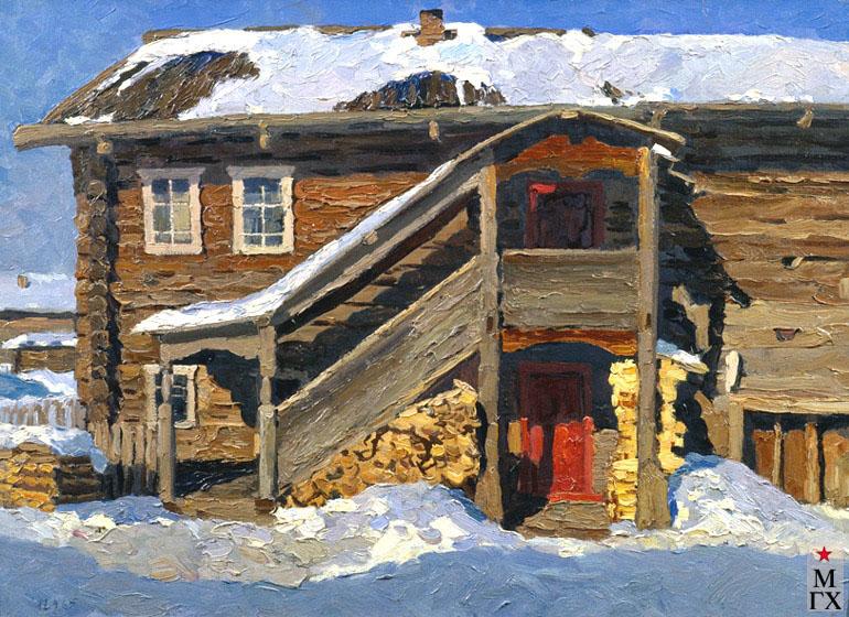 В. Ф. Стожаров. Дом с красной дверью. 1965. К.М.