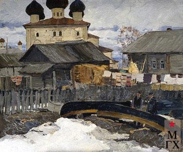 В. Ф. Стожаров. Церковь Благовещения. (1692). 1963. К.М.