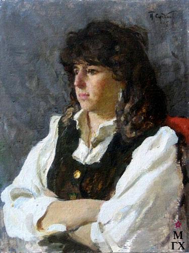 П.Ф. Судаков. Анюта. 1995. К.М. 60х46