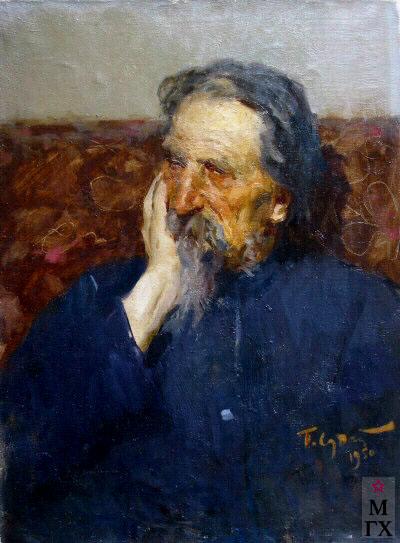 П.Ф. Судаков. Портрет отца Фёдора Васильевича. 1950.Х.М. 60х45