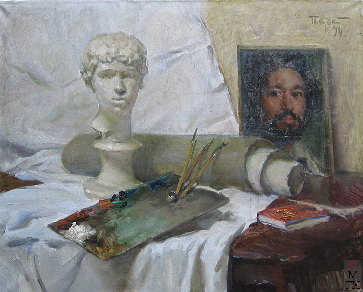 П.Ф. Судаков. Натюрморт Искусство. 80х100. х.,м. 1994.