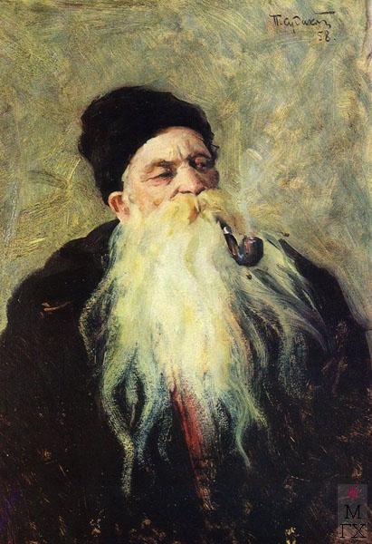 П.Ф. Судаков. Народный сказитель. 70х49,6. к .м. 1958.