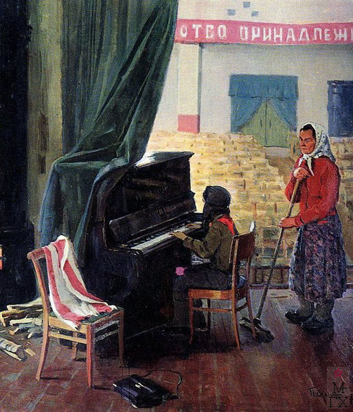 П.Ф. Судаков. Мать. 110х102. х.,м. 1970.