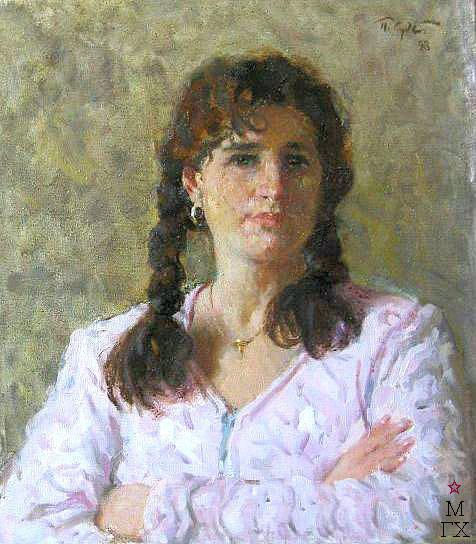 П.Ф. Судаков. Портрет Ани. 56x48. x.,м. 1998.