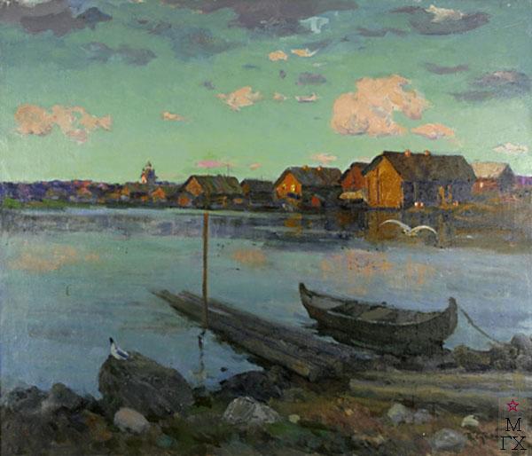 П.Ф. Судаков. Тишина. 1992.  х.,м. 100х120