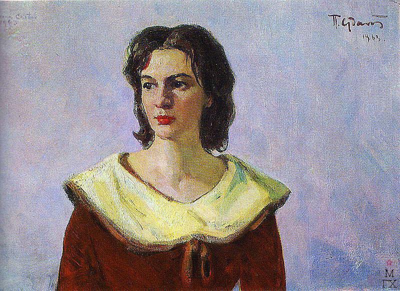 П.Ф. Судаков. Портрет Августины Кастро-Рус. 1963. х.,м. 60,5х79.