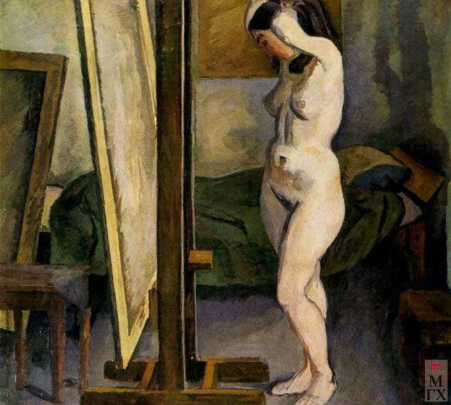 А. Ф. Суханов. В мастерской. 1967.