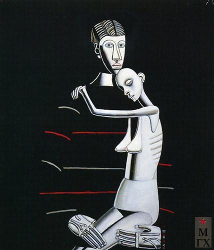 Н.Е. Ватагин. Я и Маша. 1992. Х.М. 110х100.